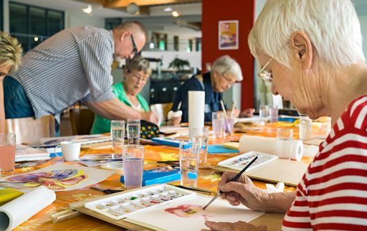 Seniors can benefit from unique creative therapies
