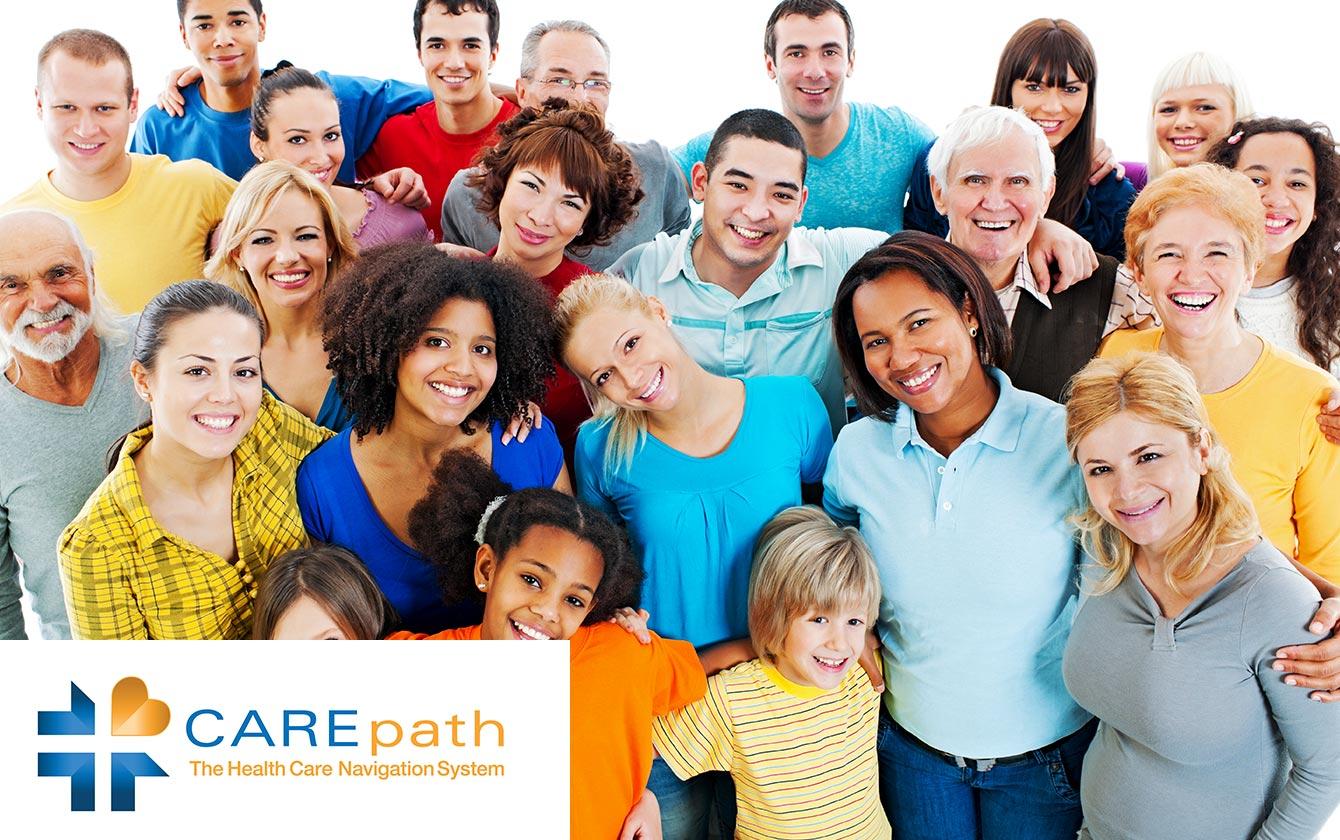 groupe de personnes diverses souriant