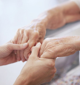 Bayshore HealthCare Hall of Fame holding hands