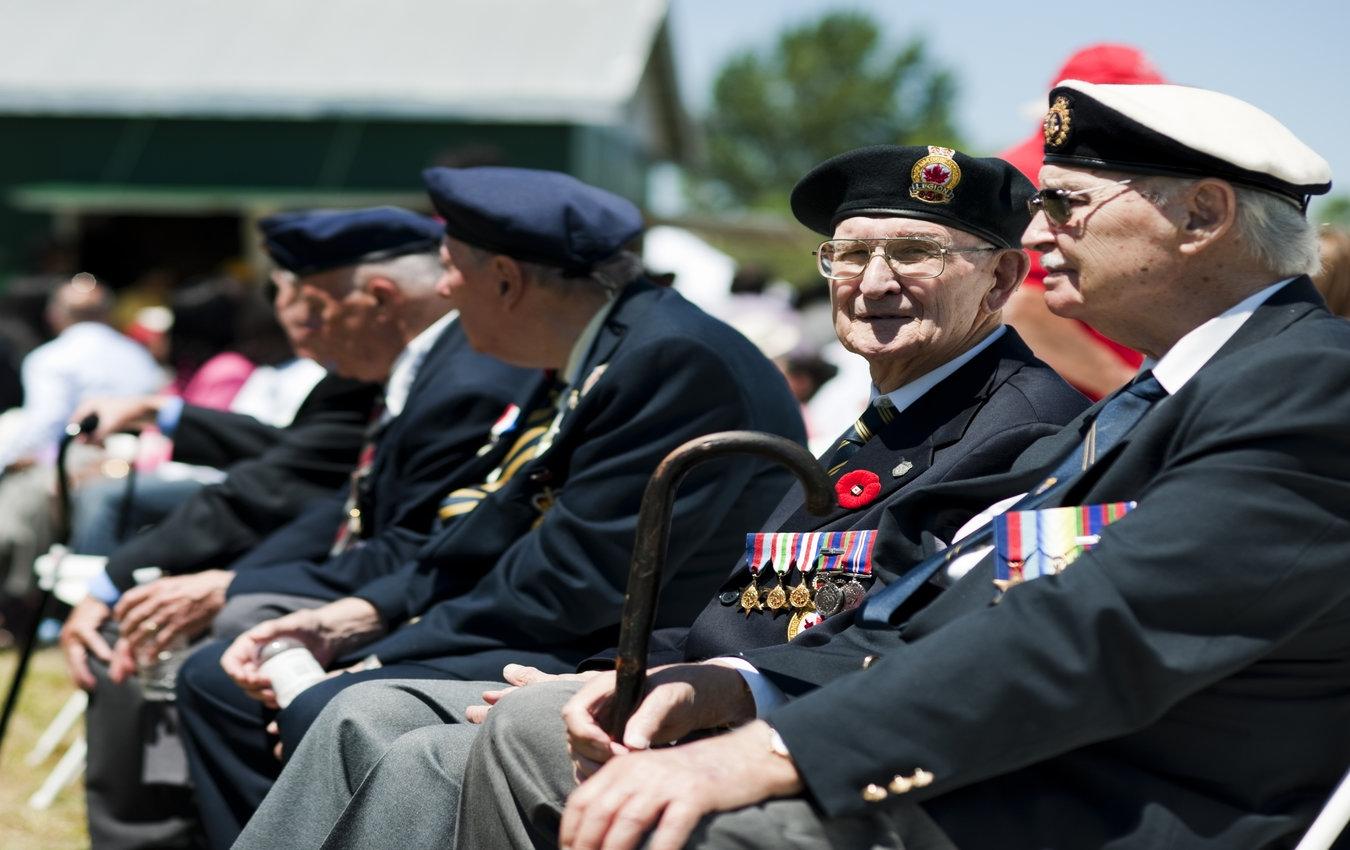 groupe d'anciens combattants âgés