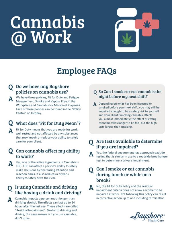 infographie sur le cannabis au travail