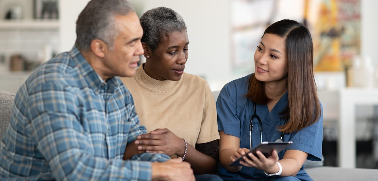 Sharing results with an elderly couple
